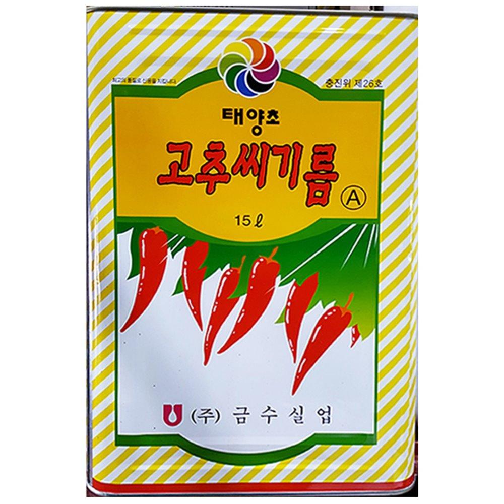[더산식자재]고추맛기름(A 금수 15K)