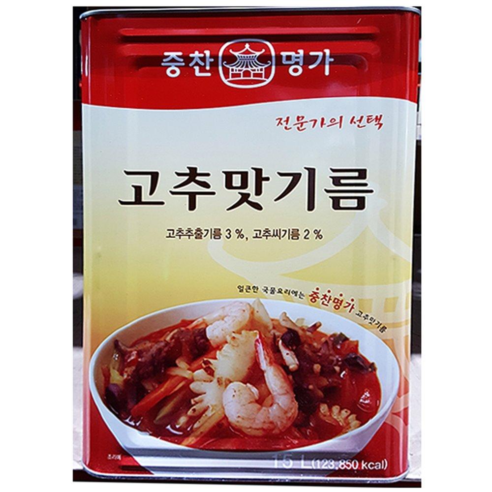 [더산식자재]고추맛기름(중찬 15L)