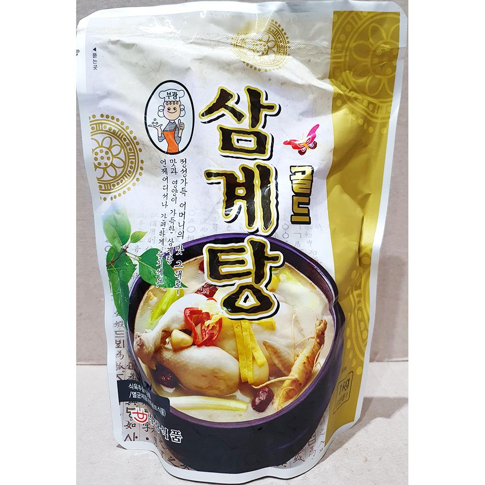 삼계탕(대빵 부광 1k) 누룽지삼계탕 즉석식품 복날보양식 일회용비닐봉투