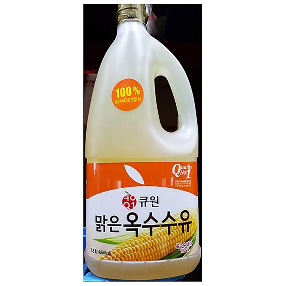 옥수수식용유(큐원 1.8L) 식용유 옥배유 옥수수식용유