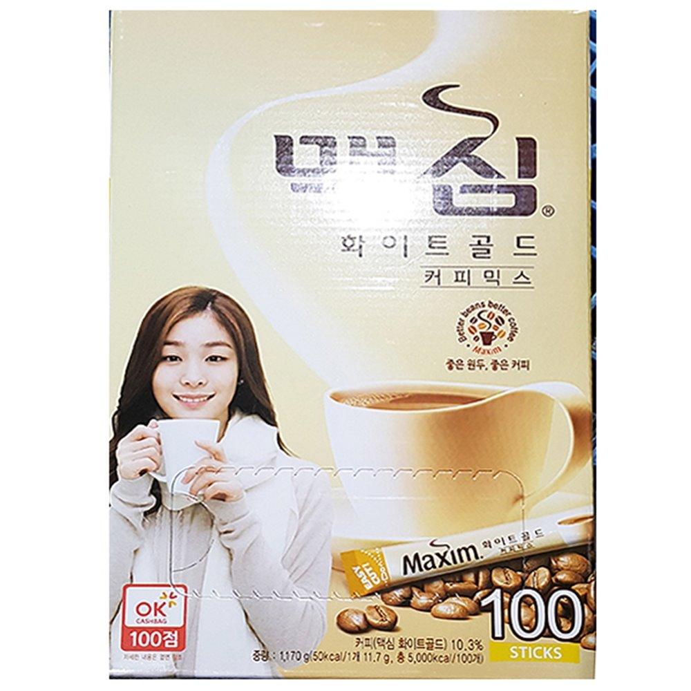 일회용 화이트 커피믹스(맥심 100T) 커피믹스 믹스커피