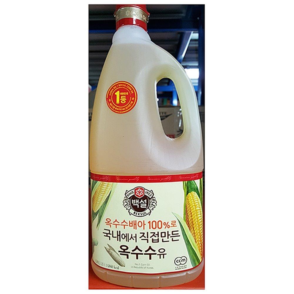옥수수식용유(백설 1.8L) 식용유 옥배유 옥수수식용유