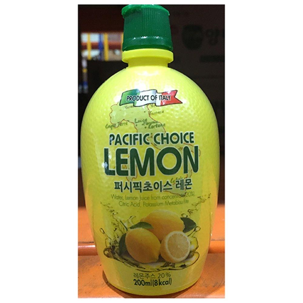 레몬주스농축액(퍼시픽 200ml) 레몬주스 레몬원액 음료베이스(액상) 농축액